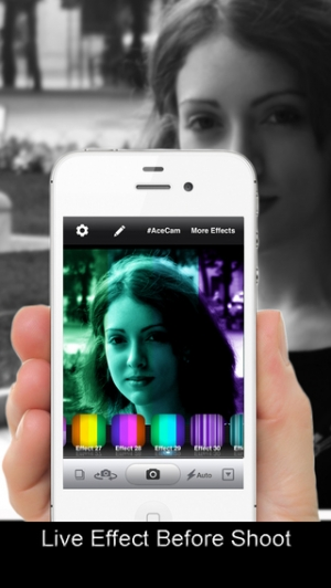 iPhone、iPadアプリ「AceCam Stripes - Photo Effect for Instagram」のスクリーンショット 4枚目