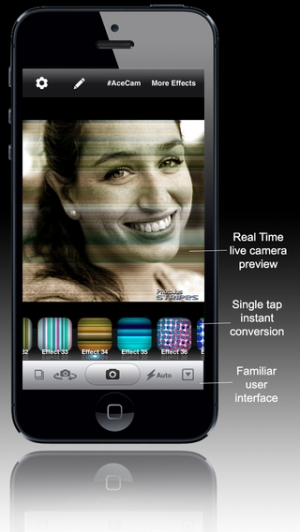 iPhone、iPadアプリ「AceCam Stripes - Photo Effect for Instagram」のスクリーンショット 5枚目