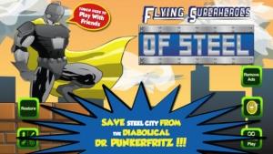 iPhone、iPadアプリ「スチールのフライングヒーロー (Flying Superheroes of Steel)」のスクリーンショット 1枚目