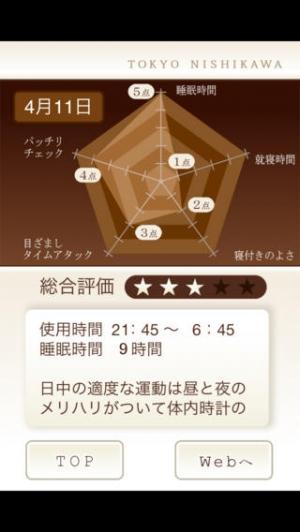 iPhone、iPadアプリ「東京西川の睡眠アプリ」のスクリーンショット 3枚目