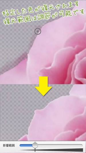 iPhone、iPadアプリ「背景透過 -写真を切り抜き、背景透明でスタンプを無料で作成-」のスクリーンショット 3枚目