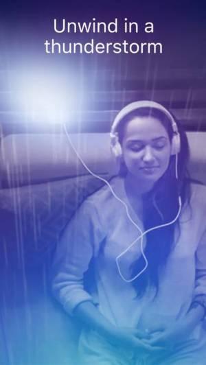 iPhone、iPadアプリ「Thunderspace Rain Sleep Sounds」のスクリーンショット 1枚目
