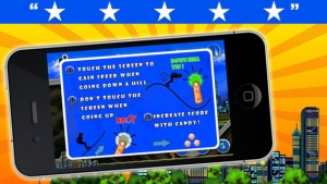 iPhone、iPadアプリ「A Roller Derby Candy Dash - Free Downhill Racing Game」のスクリーンショット 3枚目