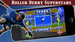iPhone、iPadアプリ「A Roller Derby Candy Dash - Free Downhill Racing Game」のスクリーンショット 2枚目