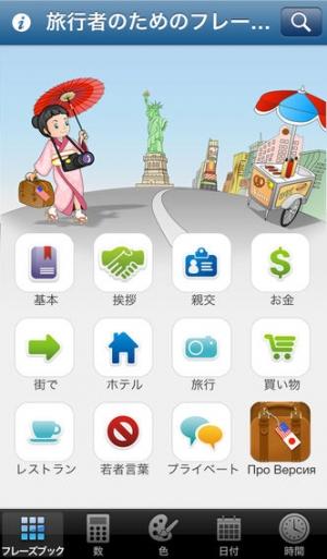 iPhone、iPadアプリ「観光客のための和英フレーズ Lite」のスクリーンショット 1枚目