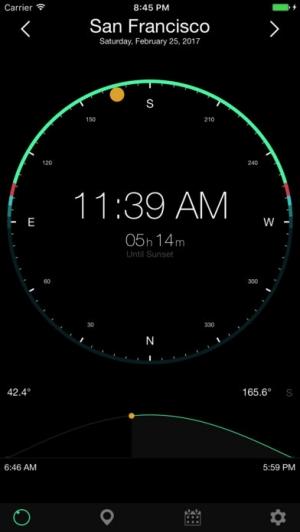 iPhone、iPadアプリ「ソーラーコンパス」のスクリーンショット 1枚目