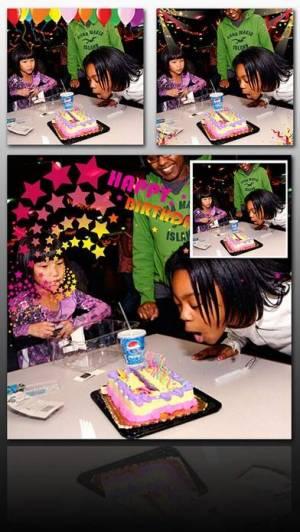 iPhone、iPadアプリ「Birthday Frame Greetings」のスクリーンショット 5枚目