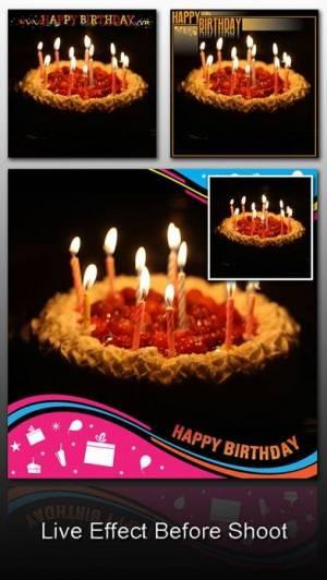 iPhone、iPadアプリ「Birthday Frame Greetings」のスクリーンショット 3枚目