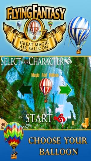 iPhone、iPadアプリ「オズフライングファンタジー - グレートレースゲーム魔法の熱気球で」のスクリーンショット 3枚目