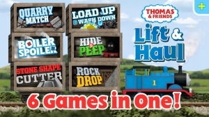 iPhone、iPadアプリ「Thomas & Friends: Lift & Haul — a collection of 6 games」のスクリーンショット 1枚目