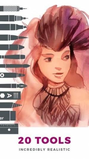 iPhone、iPadアプリ「Tayasui Sketches」のスクリーンショット 1枚目