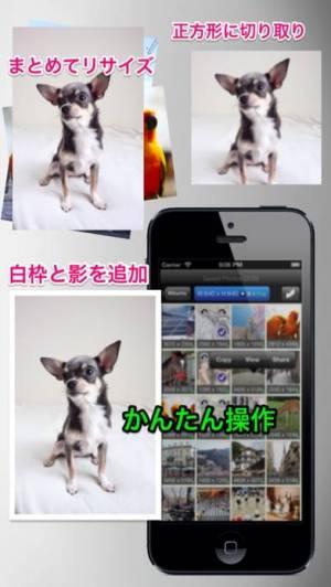 iPhone、iPadアプリ「バッチリサイズ - 複数の写真をまとめてリサイズ」のスクリーンショット 1枚目