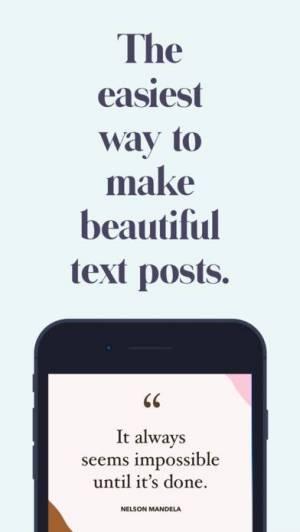 iPhone、iPadアプリ「Word Swag - Cool Fonts」のスクリーンショット 1枚目