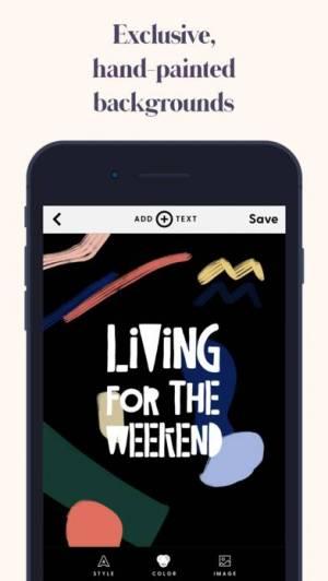 iPhone、iPadアプリ「Word Swag - Cool Fonts」のスクリーンショット 5枚目