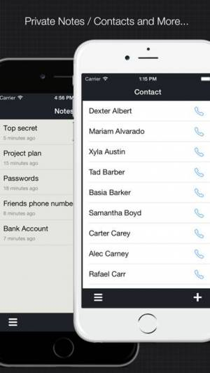 iPhone、iPadアプリ「プラベート計算器:ファイルを隠す、ブラウザー、シークレット写真、ビデオ、画像ダウンローダー、ノート・連絡先キーパー」のスクリーンショット 5枚目