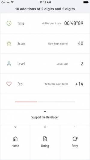 iPhone、iPadアプリ「Ninimaths 暗算アプリ」のスクリーンショット 2枚目