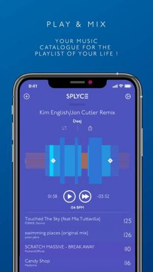 iPhone、iPadアプリ「Splyce - automix with effects」のスクリーンショット 1枚目