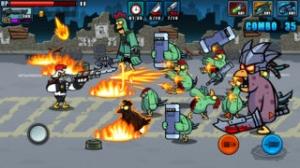 iPhone、iPadアプリ「Chicken Warrior : Zombie Hunter」のスクリーンショット 3枚目