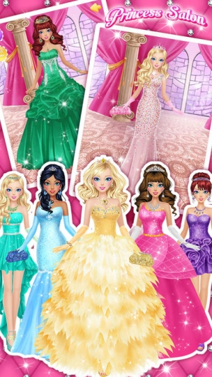 iPhone、iPadアプリ「Princess Salon™ - Girls Makeup, Dressup and Makeover Games」のスクリーンショット 5枚目
