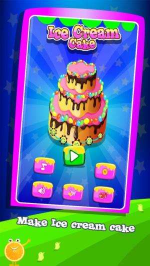 iPhone、iPadアプリ「アイスクリームケーキメーカー - 特別ラブ&バースデーケーキを作る」のスクリーンショット 2枚目