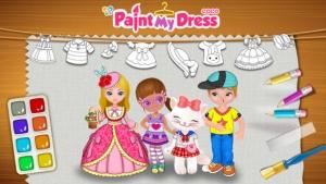 iPhone、iPadアプリ「Cocoはドレスを画く」のスクリーンショット 1枚目