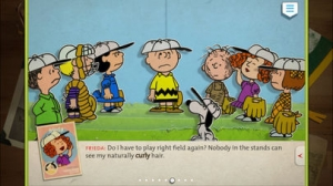 iPhone、iPadアプリ「Charlie Brown's All Stars! - Peanuts Read and Play」のスクリーンショット 1枚目