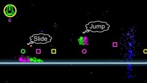 iPhone、iPadアプリ「Neon Run」のスクリーンショット 1枚目