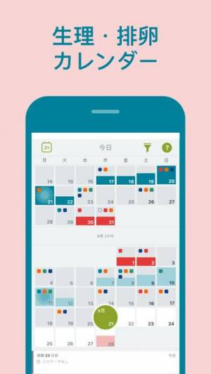 iPhone、iPadアプリ「Clue 生理管理・ 排卵日予測」のスクリーンショット 2枚目