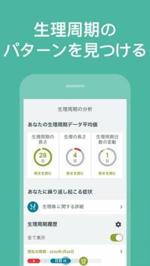 iPhone、iPadアプリ「Clue 生理管理アプリ, 排卵日予測 & 妊娠カレンダー」のスクリーンショット 3枚目