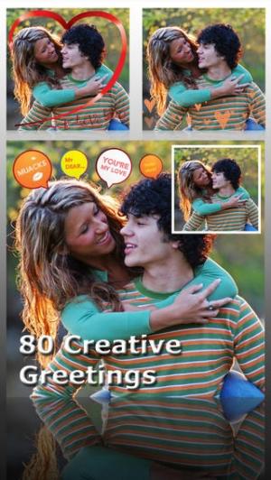 iPhone、iPadアプリ「AceCam Romantic Greetings Pro - Photo Effect for Instagram」のスクリーンショット 2枚目