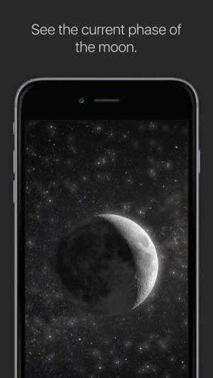 iPhone、iPadアプリ「MOON - Current Moon Phase」のスクリーンショット 1枚目