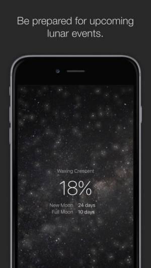 iPhone、iPadアプリ「MOON - Current Moon Phase」のスクリーンショット 2枚目