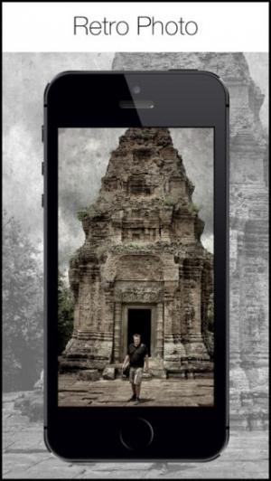 iPhone、iPadアプリ「Retro 360 Camera - ヴィンテージ黒白写真フィルタとエフェクトエディタ」のスクリーンショット 1枚目