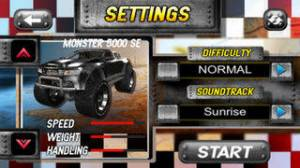 iPhone、iPadアプリ「A Super Monster Truck Racing 3D- Free Real Multiplayer Offroad Race Game」のスクリーンショット 2枚目