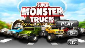 iPhone、iPadアプリ「A Super Monster Truck Racing 3D- Free Real Multiplayer Offroad Race Game」のスクリーンショット 1枚目