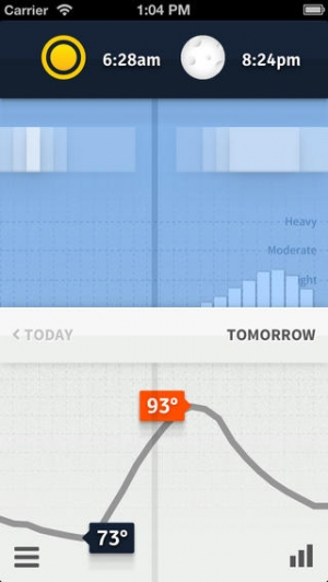 iPhone、iPadアプリ「Weathertron — Live Rain, Snow, Clouds & Temperatures」のスクリーンショット 4枚目