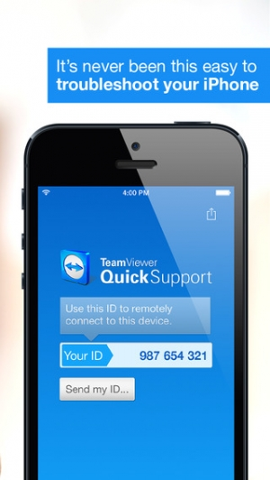 iPhone、iPadアプリ「TeamViewer QuickSupport」のスクリーンショット 1枚目