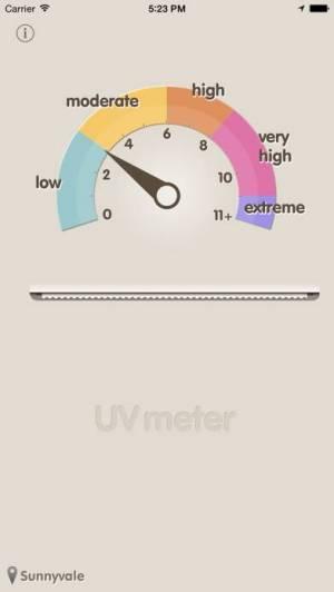 iPhone、iPadアプリ「UV指数」のスクリーンショット 2枚目