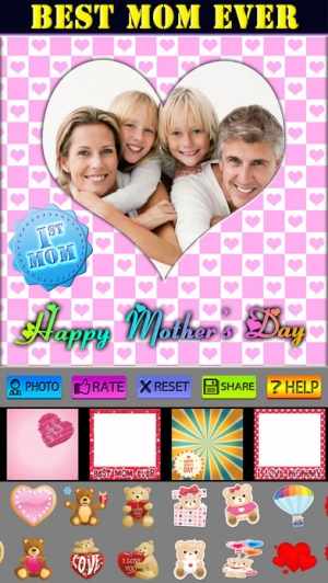 iPhone、iPadアプリ「Happy Mother's Day Greeting Cards」のスクリーンショット 5枚目