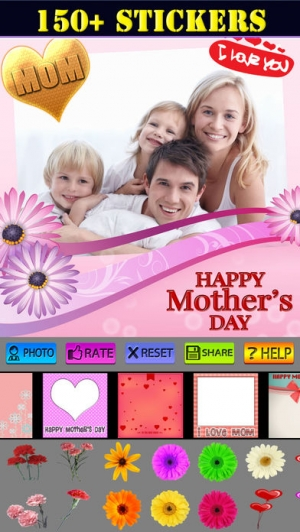 iPhone、iPadアプリ「Happy Mother's Day Greeting Cards」のスクリーンショット 3枚目
