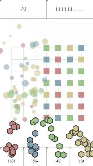 iPhone、iPadアプリ「Ninihex: 同じ色で挟むパズル」のスクリーンショット 2枚目