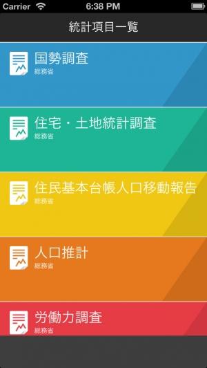 iPhone、iPadアプリ「日本 統計」のスクリーンショット 2枚目