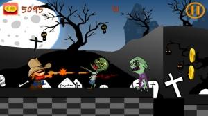 iPhone、iPadアプリ「A Zombie World War - 自由のためのゾンビゲーム」のスクリーンショット 1枚目
