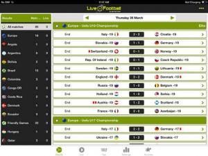 iPhone、iPadアプリ「サッカーライブHD」のスクリーンショット 2枚目