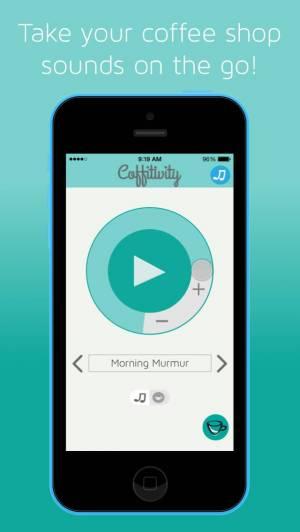 iPhone、iPadアプリ「Coffitivity」のスクリーンショット 1枚目