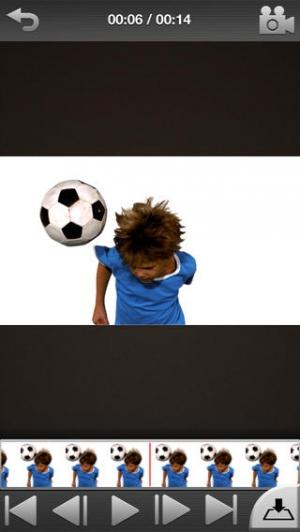 iPhone、iPadアプリ「スピード感はそのままに、わが子のスポーツ姿を写真にも「SELF EDIT」」のスクリーンショット 2枚目