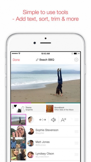 iPhone、iPadアプリ「MixBit - Collaborative Video.」のスクリーンショット 4枚目