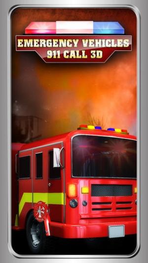 iPhone、iPadアプリ「緊急車両911コール - 救急車、消防·警察クレイジーレース - 無料版」のスクリーンショット 1枚目