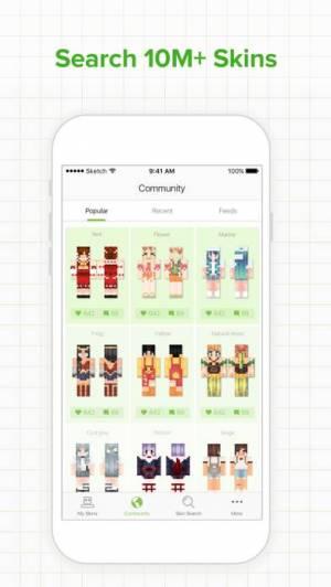 iPhone、iPadアプリ「Skinseed for Minecraft Skins」のスクリーンショット 1枚目