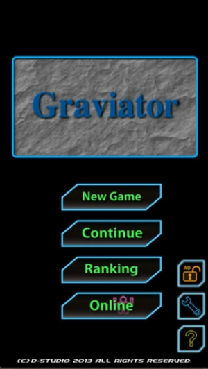 iPhone、iPadアプリ「GraviatorLite」のスクリーンショット 1枚目